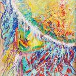 """Claude Pelet artiste peintre - Série """"Coulures"""" - Joie Printanière"""