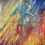 """Claude Pelet artiste peintre - Série """"Coulures"""" - Le Passage"""