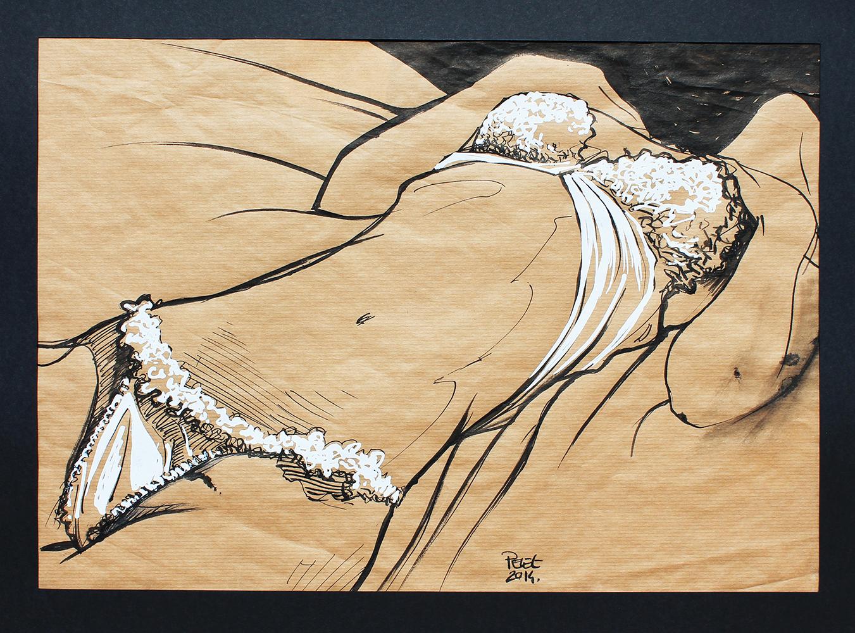 Claude Pelet Artiste Peintre - Nus - Belle en craft