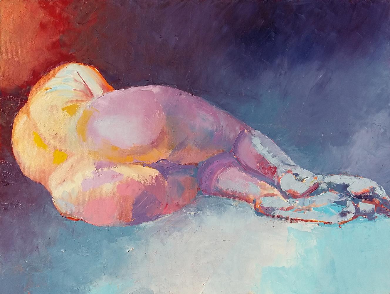 Claude Pelet Artiste Peintre - Nus - Blessée