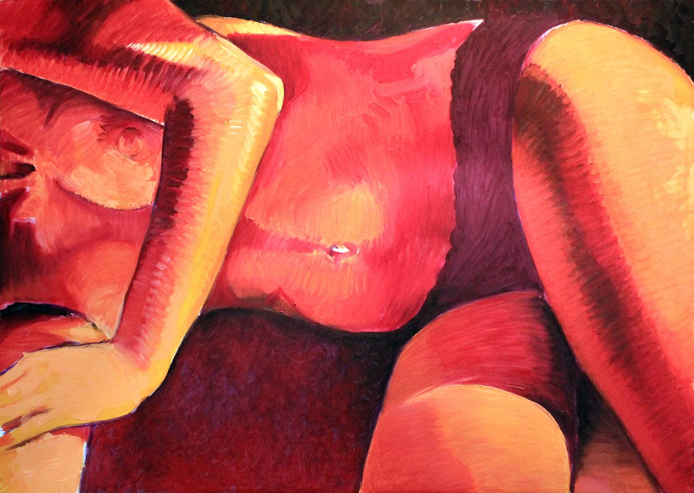 Claude Pelet Artiste Peintre - Nus - Foyer ardent