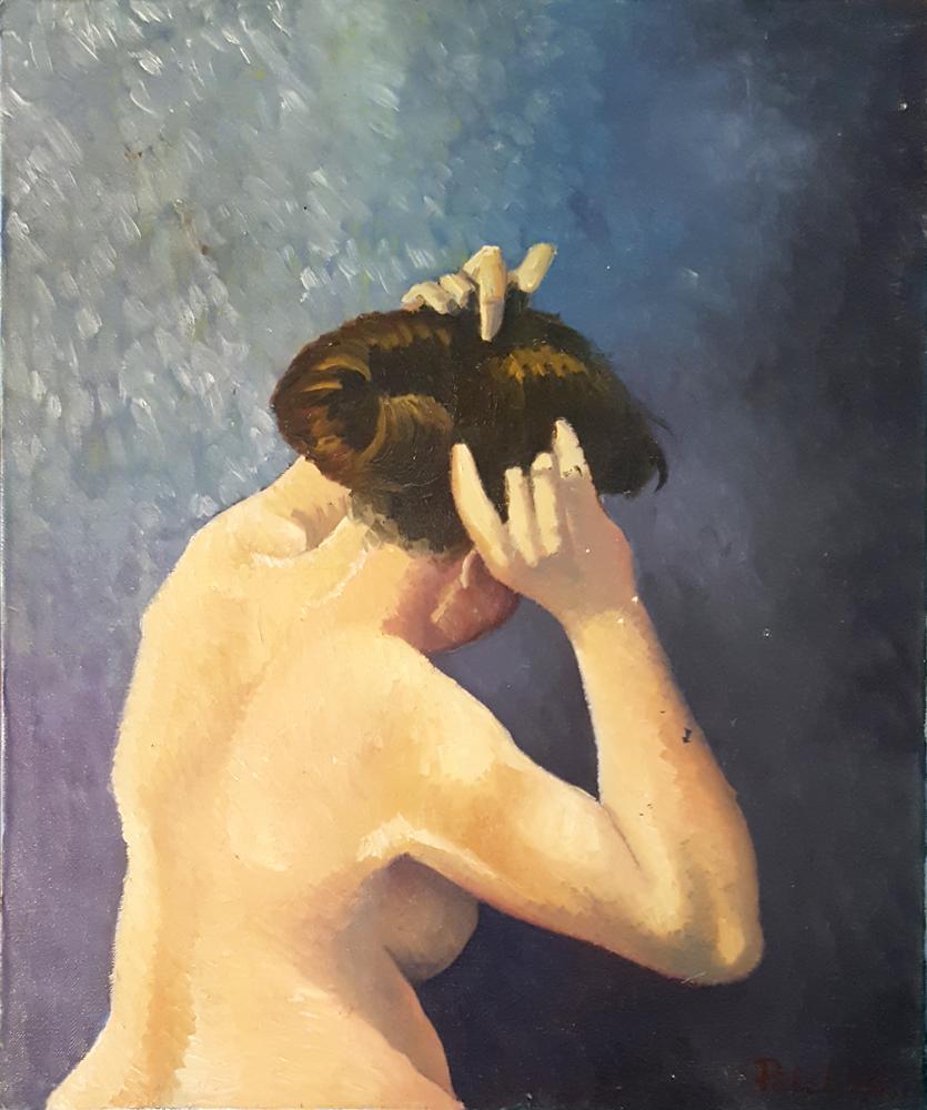 Claude Pelet Artiste Peintre - Nus - Baigneuse