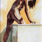 Claude Pelet Dessinateur - Aquarelle - Nus - Le bain