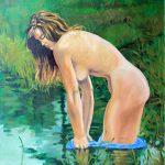 Claude Pelet Artiste Peintre - Nus - Réflexion