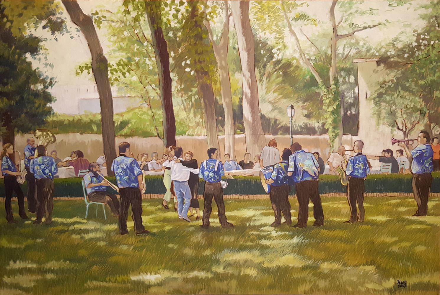Claude Pelet Artiste Peintre - Pena au parc
