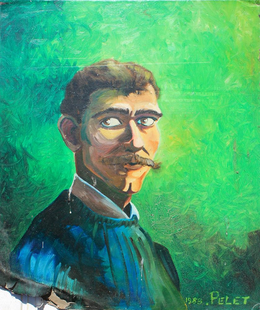 Claude Pelet Artiste Peintre - Portrait - Autoportrait 1998