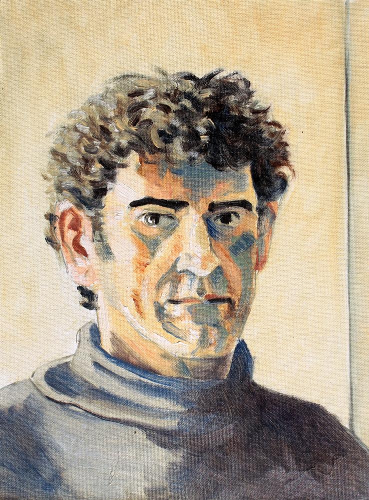 Claude Pelet Artiste Peintre - Portrait - Autoportrait 1993