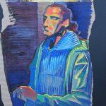 Claude Pelet Artiste Peintre - Portrait - Autoportrait 2014