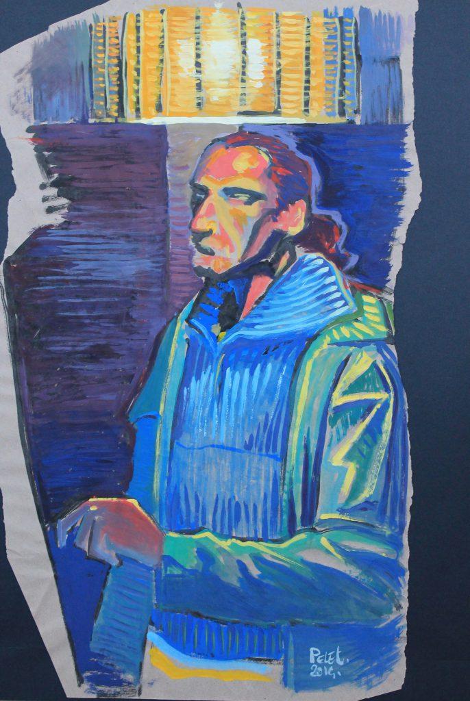 Claude Pelet Artiste Peintre - Autoportrait 2014