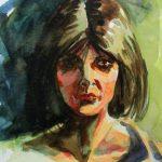 Claude Pelet Dessinateur - Aquarelle - Portrait - Etude de portrait