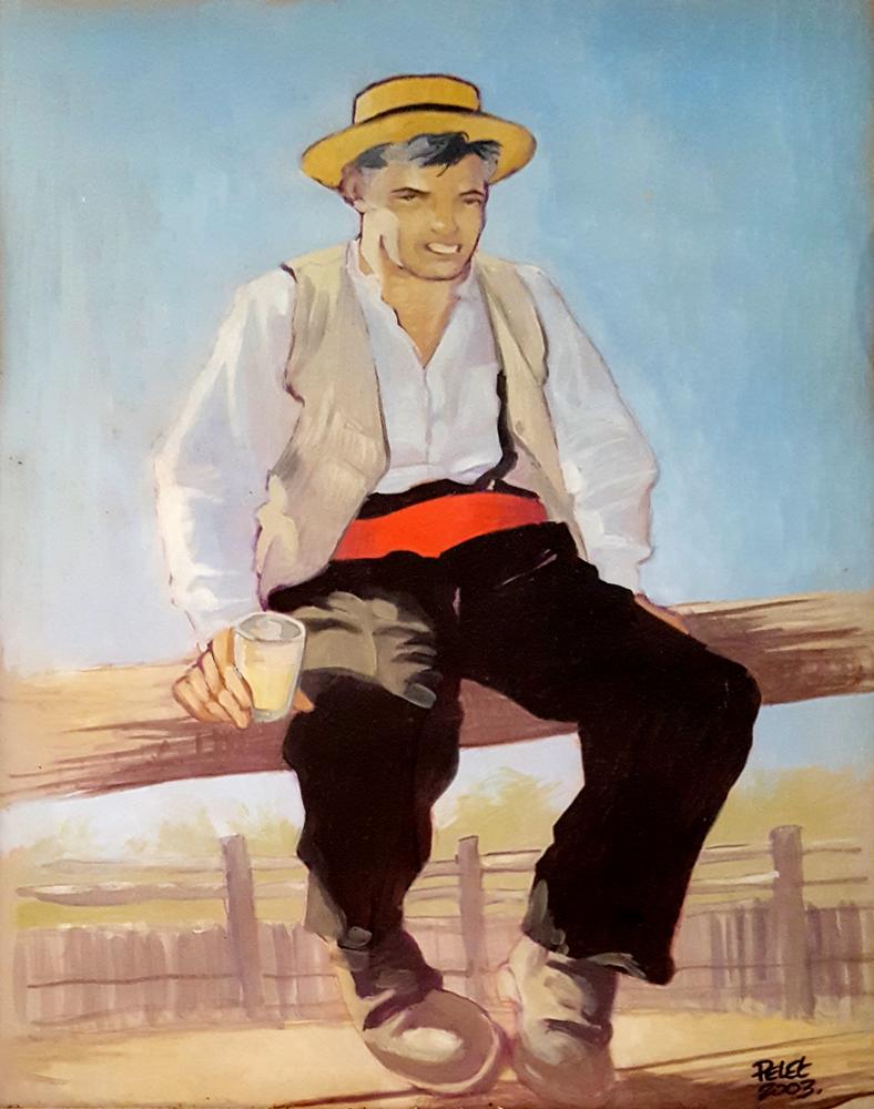 Claude Pelet Artiste Peintre - Portrait - Sur le bouvau