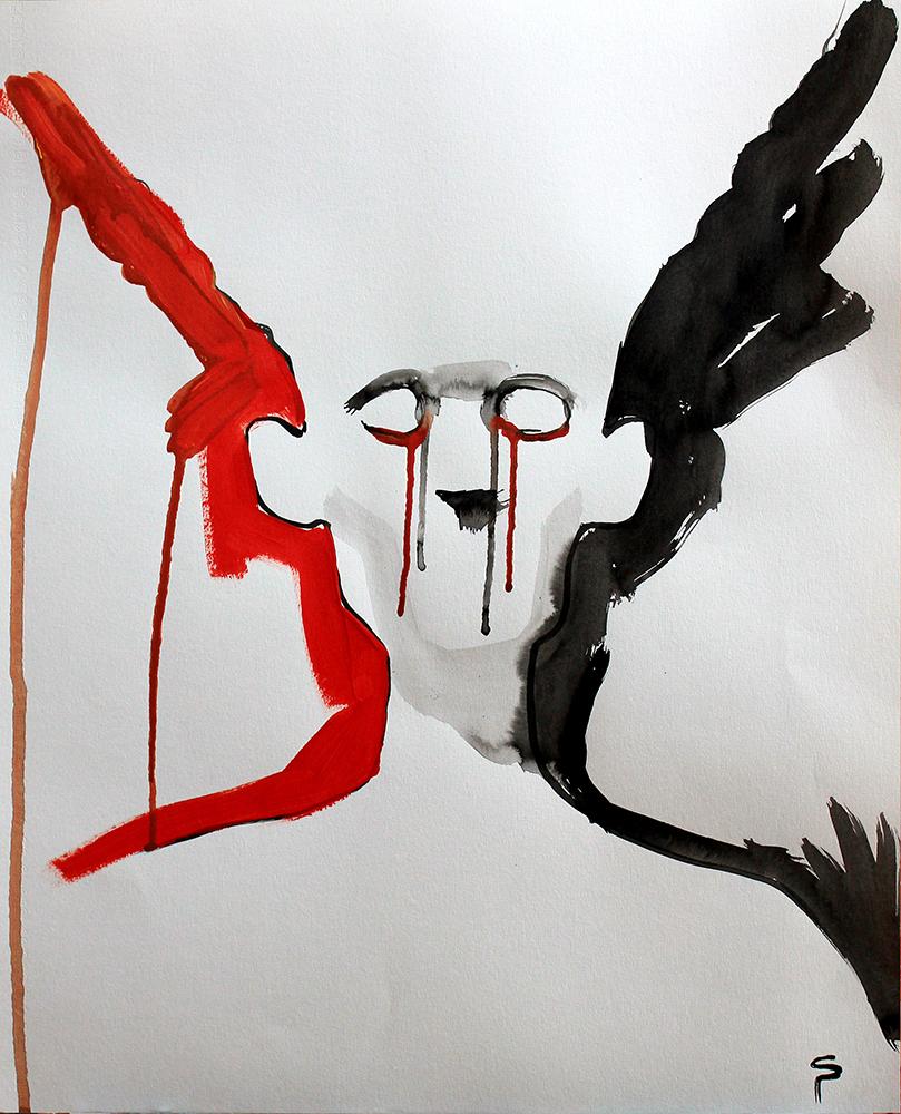 Claude Pelet - Artiste Peintre - Symbolisme - Détresse