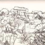Claude Pelet Dessinateur - Croquis - Mas de Lunès