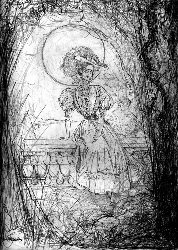 Claude Pelet Illustrateur - Dessinateur BD - Bertille au clair de Lune (croquis)