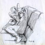 Claude Pelet Dessinateur - Etude - Christine