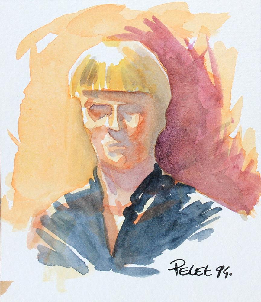Claude Pelet Dessinateur - Etude - Etude de portrait