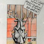 Claude Pelet Dessinateur - Humour - En grève