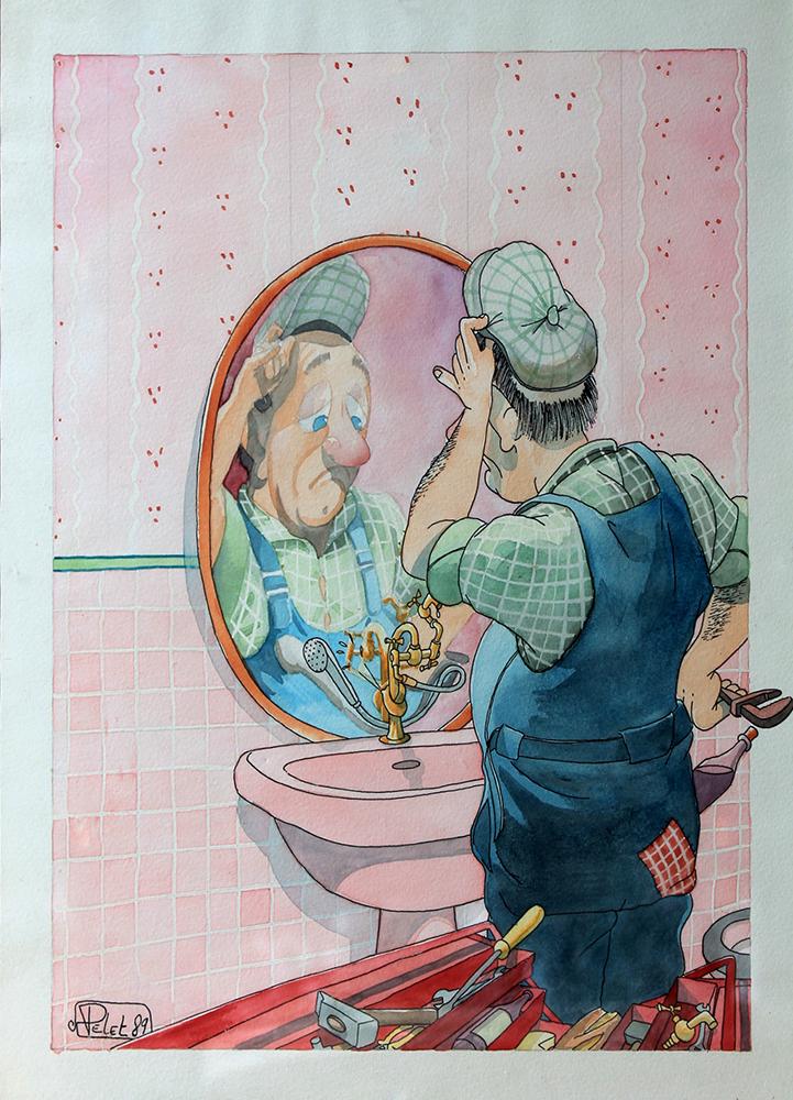 Claude Pelet Dessinateur - Humour - Le noeud du problème