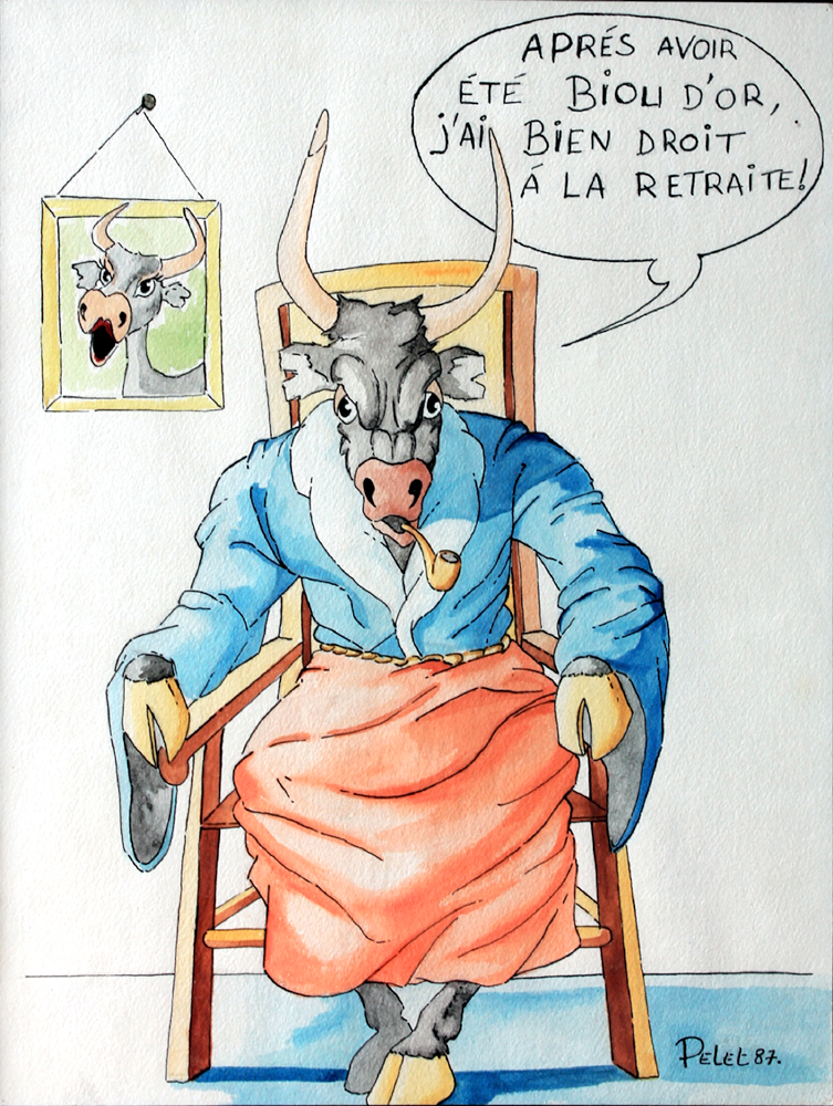 Claude Pelet Dessinateur - Humour - Retraite