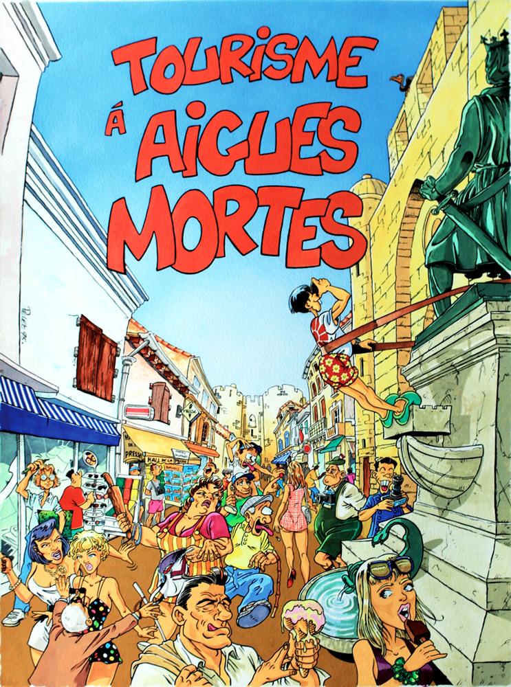 Claude Pelet Illustrateur - Tourisme à Aigues-Mortes