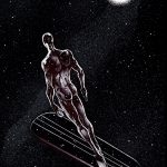 Claude Pelet Illustrateur - Silver Surfer (n&b)