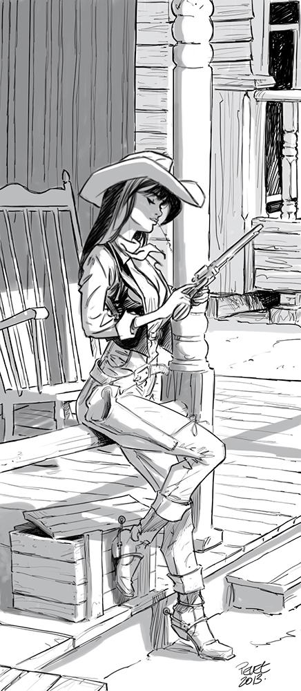 Claude Pelet Illustrateur - Cow girl