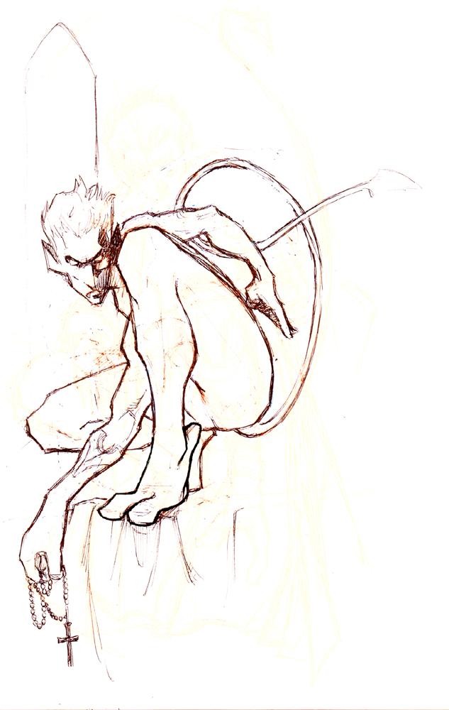 Claude Pelet Illustrateur - Diablo (croquis)