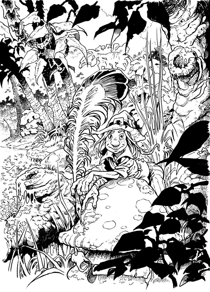 Claude Pelet Illustrateur - Farfadet (n&b)