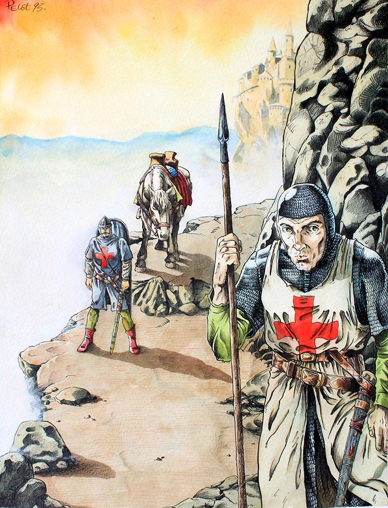 Claude Pelet Illustrateur - Les Croisés