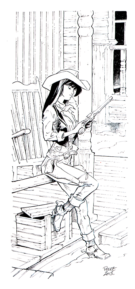 Claude Pelet Illustrateur - Lucy Luke