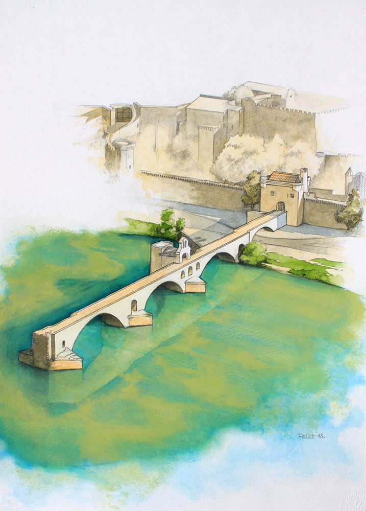 Claude Pelet Illustrateur - Pont d'Avignon