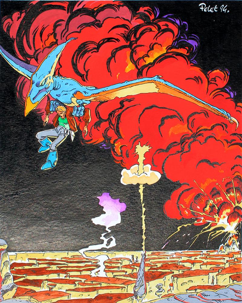 Claude Pelet Illustrateur - Ptérodactyle