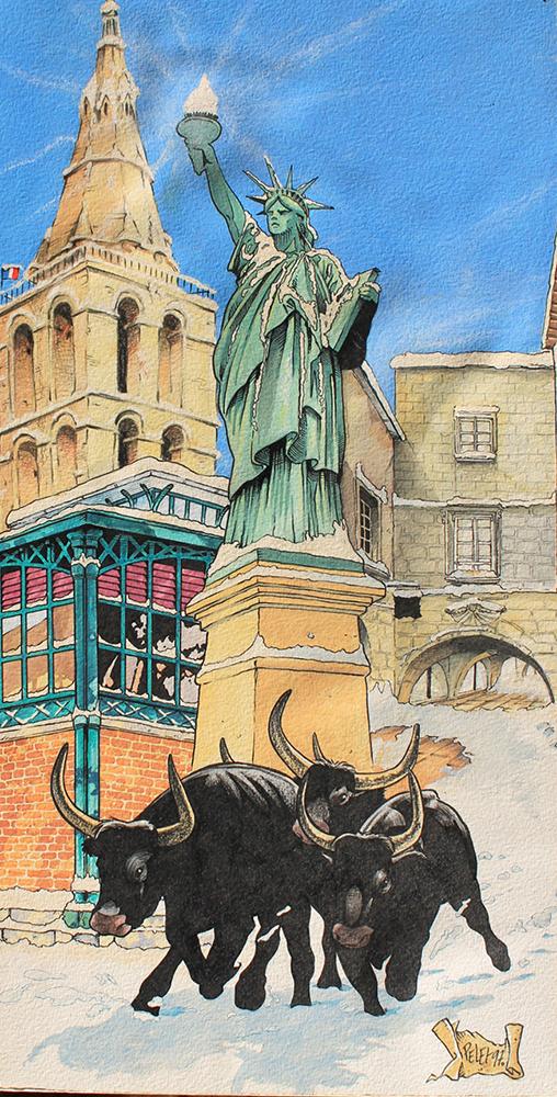 Claude Pelet Illustrateur - Voeux Lunel
