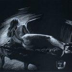 Claude Pelet Dessinateur - Nus - Le sofa