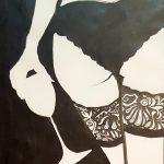 Claude Pelet Dessinateur - Nus - Verre dentelle