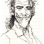 Claude Pelet Dessinateur - Portraits - Autoportrait Ink