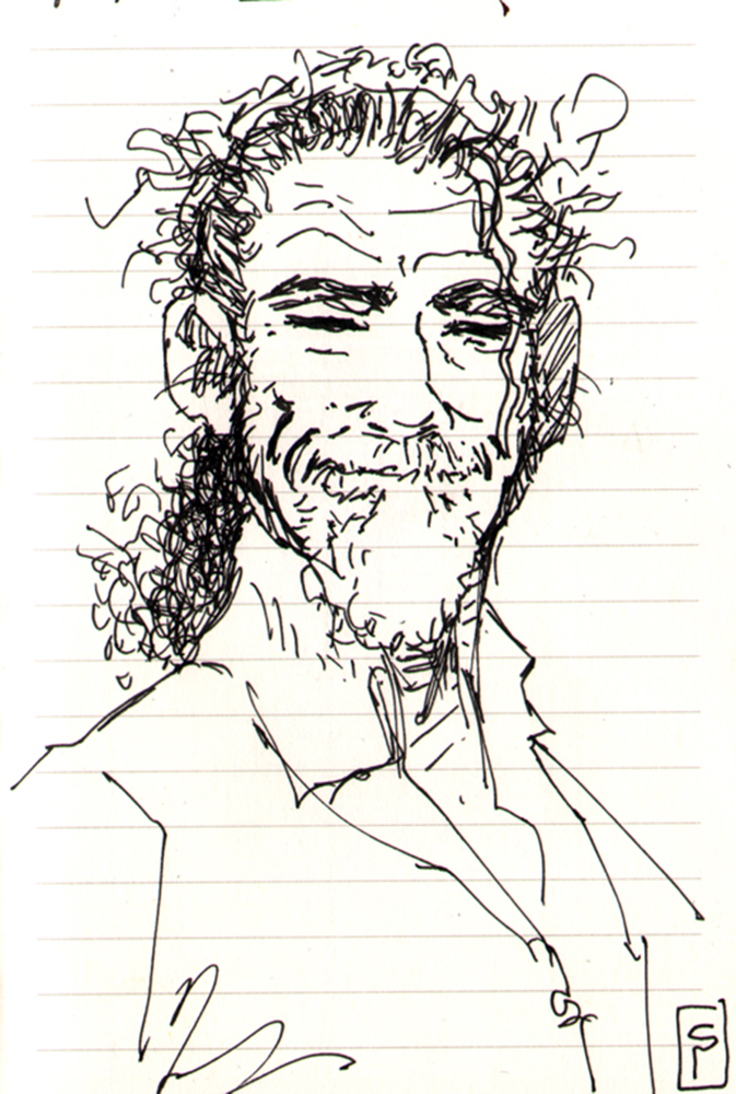 Claude Pelet Dessinateur - Portraits - Autoportrait Ink