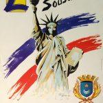 Claude Pelet Illustrateur - Affiche Statue de la Liberté Lunel