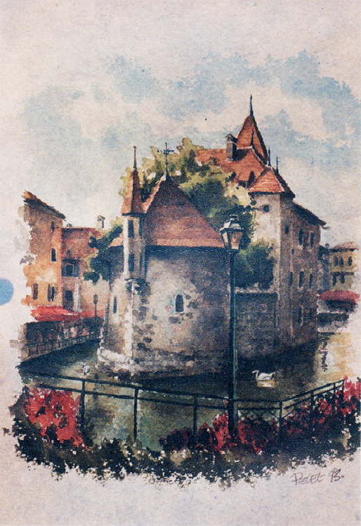 Claude Pelet Dessinateur - Aquarelle - Paysage - Annecy