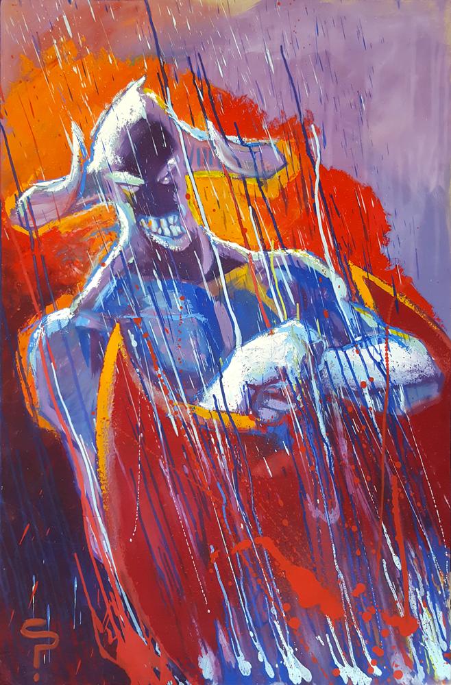 Claude Pelet Artiste Peintre - Fantasy - Le bourreau